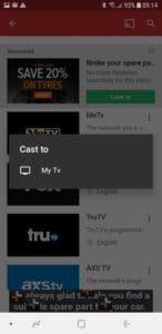 Mobdro Chromecast Message