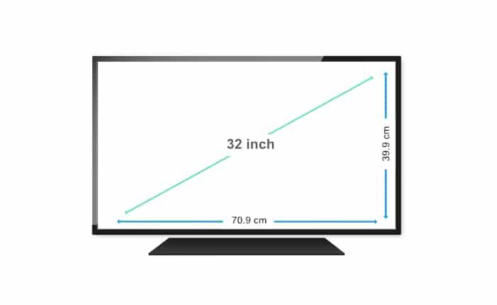 32 Inch TV Dimensions in cm