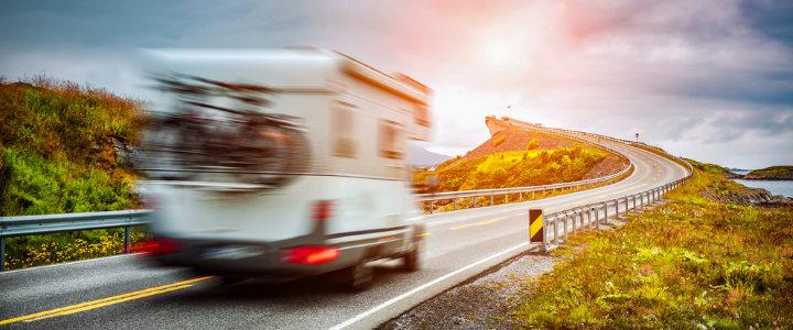 Campervan on the road