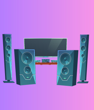4 Speakers and Subwoofers