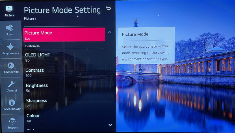LG Picture Settings