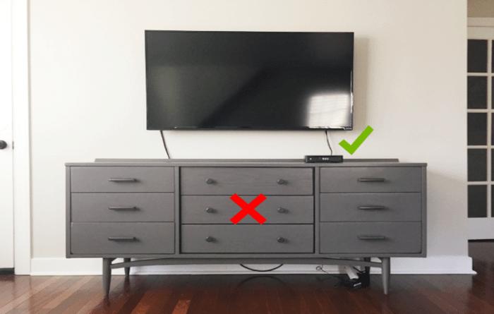 TV and Roku stick