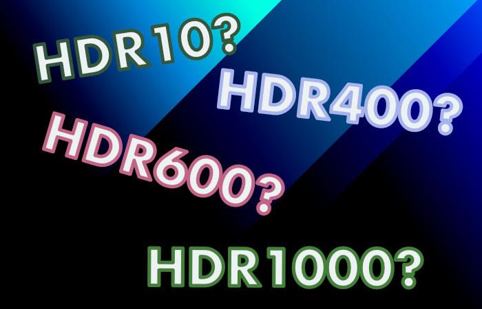 HDR10 vs HDR 1000